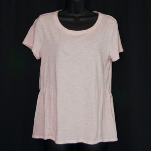 Sanctuary Off Duty Tee Shirt Pale Pink Top S 0612X